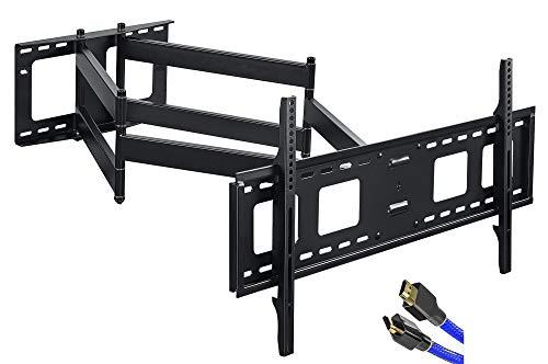 FORGING MOUNT TV-Wandhalterung mit langer Reichweite,109cm,doppelter Gelenkarm,voll beweglich,neig-und schwenkbar,für 42 bis 95 Zoll Flach-/Kurven-Fernseher,Belastung 75 kg,VESA800x400mm
