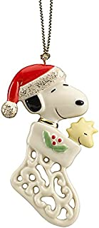 Lenox Pierced Snoopy Peanuts Charm Ornament