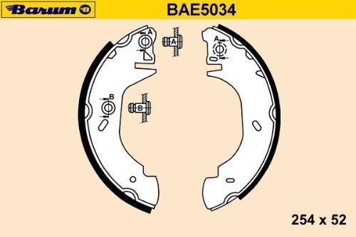 Barum BAE5034 KIT DE SEGMENT DE FREIN ET INSTALLATION