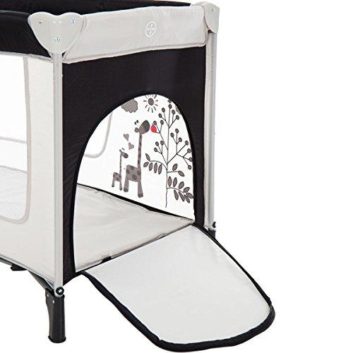 Reisebett/Babyreisebett GIRAFFE mit Rollen und Schlupfloch (Inklusive Matratze & Transporttasche) 120 x 60 cm von 0 – 5 Jahren - 6