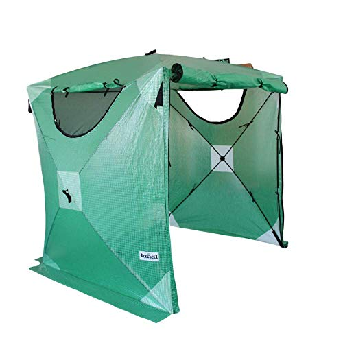 Kradl Portable Greenhouse Kit | Outdoor, Instant Pop Up Canopy for Plants | Waterproof Plant Cover | Garden Shed Plastic Grow Tent 69 x 69 x 81 Inches