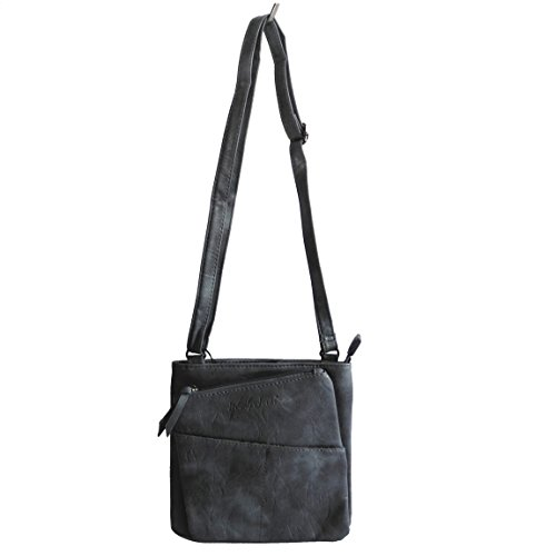 Jennifer Jones - kleine -DamenHandtasche Clutch Umhängetasche Abendtasche Ausgehtasche Schultertasche (Blau) - präsentiert von ZMOKA®