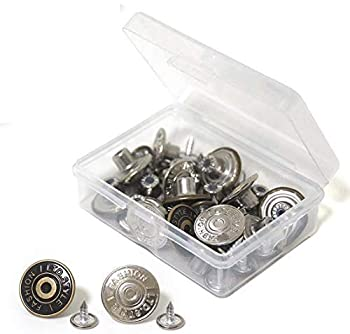 Jeans Repair Accessories Set Tack Snap Buttons Rivets Two Color 40pcs Tool Kit