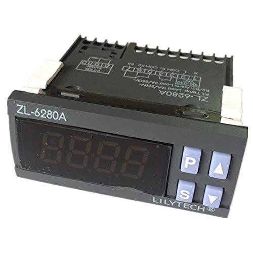 TOOGOO Zl-6280A, 400C, 16A, Pt100, Temperatur Regler, Pt100 Thermostat, Digitaler Thermostat für Hohe Temperaturen