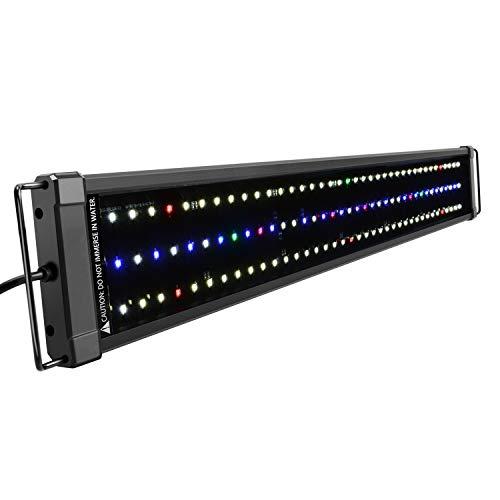 NICREW ClassicLED Plus HO Luz Acuario, Lámpara de Espectro Completo, Luz Impermeable para Acuario de Agua Dulce, 75-100 cm, 34 W, 1265 LM