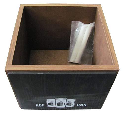 Jägermeister - Besteckkasten mit Schreibfläche - 14 x 14 x 11,5 cm