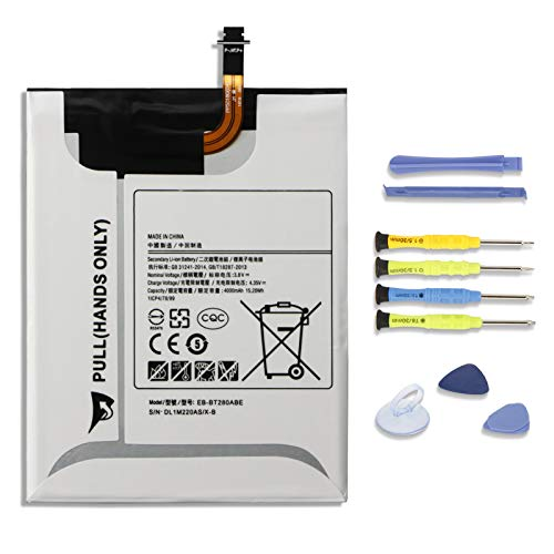 K KYUER EB-BT280ABE Tablet Batteria per Samsung Galaxy Tab A 7.0 Inch 4G LTE SM-T280 SM-T280N SM-T285 SM-T285N SM-T285YD SM-T285M SM-T287 Series EB-BT280ABA GH43-04588A 3.8V 4000mAh 15.2Wh with Tools