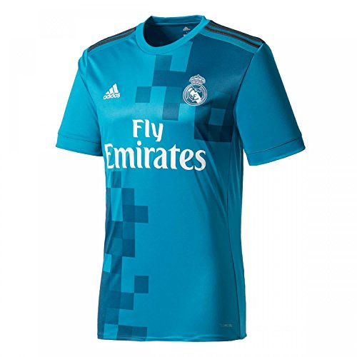 adidas Real 3 Jsy Camiseta Equipación Real Madrid, Hombre, Azul (Azuint/Gripur/Blanco), S