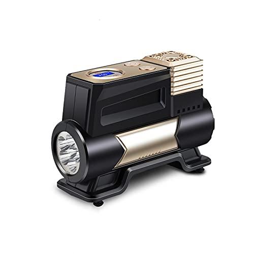 SLATIOM Compresor de Aire portátil para neumáticos Coche, Bomba neumático inflador compresor CC 12v con luz LED (Color : Digital Style)