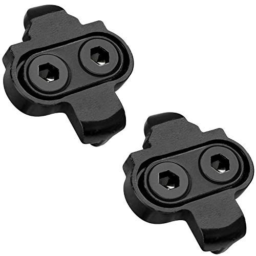 MARQUE SPD Compatible Bike Cleats - Compatible with Shimano SM SH51, Cleat Set for Indoor Cycling, Outdoor Road Cycling, Mountain Biking, Designed for Women and Men Spinning Clipless Cycle Shoe Black