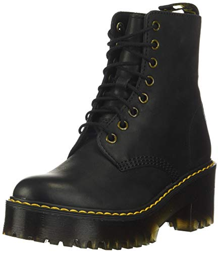 Dr. Martens Women's Shriver Hi Fashion Boot, Black Burnished Wyoming, 11 M US