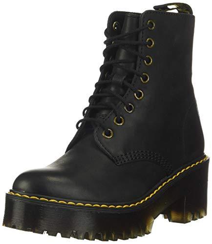 Dr. Martens Women's Shriver Hi Fashion Boot, Black Burnished Wyoming, 7