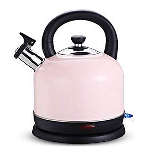 Hervidor eléctrico con tapa interior de acero inoxidable de 2 l, 1500 W, hervidor de té inalámbrico, hervidor de agua caliente de ebullición rápida con apagado automático con protección contra hervir
