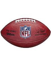 Wilson NFL The Duke Balón de fútbol americano, tamaño oficial NFL, Cuero Horween, Marrón
