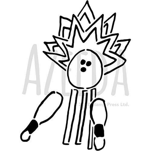 Azeeda A5 'Bowling-Streik' Wandschablone / Vorlage (WS00022668)