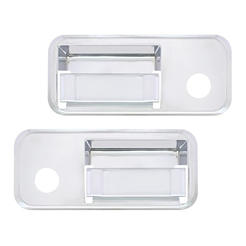 United Pacific 41618 Chrome Plastic Volvo Exterior Door Handle Cover (Set of 2)