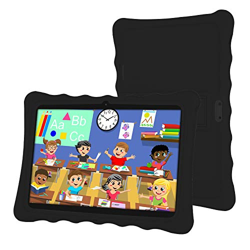 Tableta 10 Pulgadas,LAMZIEN Android 8.1 Tablet Infantil,2GB RAM y 32GB ROM,Quad-Core 1.8Ghz,3G Dual-Sim,Wifi, Bluetooth,Cámara Dual,Google Play,Juegos Educativos,Negro