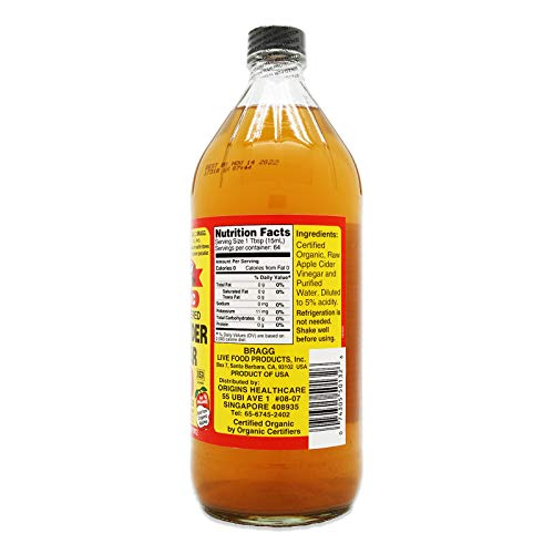 Bragg Organic Raw Apple Cider Vinegar, 32 oz