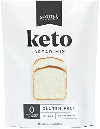 Keto Bread Zero Carb Mix Keto and Gluten Free Bread Baking Mix 0g Net Carbs Per Serving Easy product image