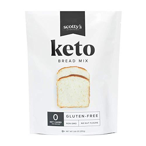 Keto Bread Zero Carb Mix - Keto and Gluten Free Bread Baking Mix - 0g Net Carbs Per Serving…