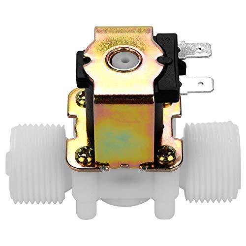 Válvula de entrada de agua N/C, válvula solenoide magnética eléctrica, DC 12V DN20 G3 / 4'válvula electromagnética de plástico normalmente cerrado interruptor de entrada de agua
