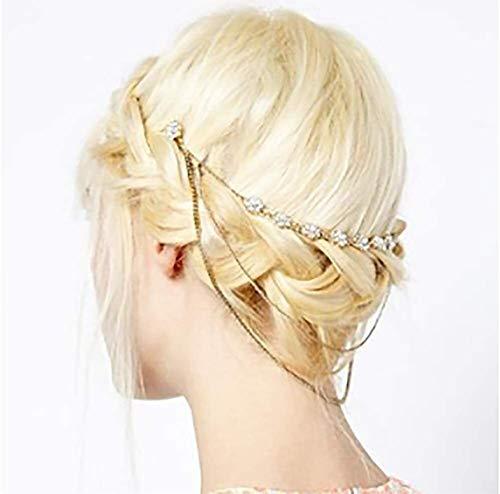 Nuptiale Boho tête Or chaîne Nuptiale Headpiece Bohême Mariage Accessoires de Cheveux