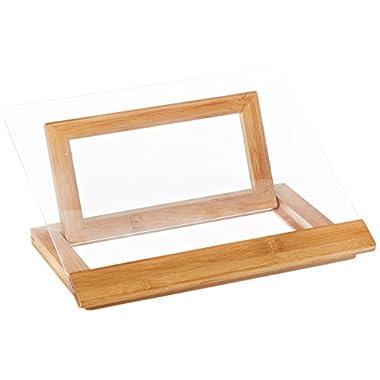 Lipper International 8815 Bamboo Wood and Acrylic Cookbook Holder, 12-1/2  x 9-1/4  x 6-3/4