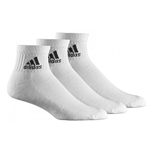 Adidas Sportsocken Mens Ankle Socks 3 Pack Sport Socks Performance White Cushioned 3 Pair Pack New V16745 (46-48)