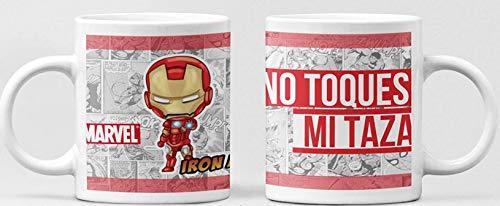 Clapper Taza Iron Man. Taza Cafe Superheroes Marvel