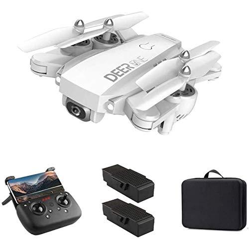 MRSDBTL 5G WiFi FPV GPS Drone, cámara 4K UHD y 1500 Metros de Vuelo RC Quadcoptere, 20 + 20 Minutos de Tiempo de Vuelo, Nivel 7 de Resistencia al Viento, Retorno automático a casa,Blanco