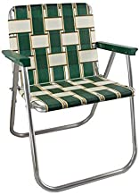 Lawn Chair USA Aluminum Webbed Chair (Picnic Chair, Charleston with Green Arms)