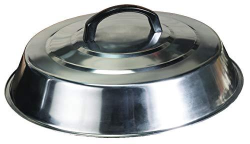 Blackstone Signature Grill-Zubehör – 30,5 cm runde Backabdeckung – Edelstahl – Schmelzkuppel und Dampfabdeckung – ideal für den Einsatz in flachen Grills für drinnen und draußen