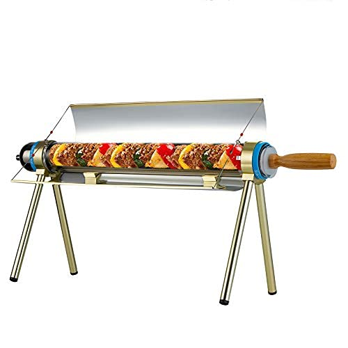 MATHOWAL Barbacoa Parrillada Portátil, Acero Inoxidable Barbacoa Plegable Parrillada Solar para Acampar para Cocinar Camping Picnic Jardin, 2-3 Persona, Calefacción de 360 grados, Libre de humo