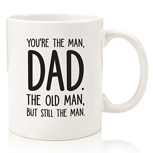 Dad, The Man/The Old Man Funny Coffee Mug - Best Father's Day Gifts for Dad - Unique Gag Gift Idea for Him from Daughter, Son, Wife, Kids - Cool Birthday Present for Men, Guys - Fun Novelty Cup