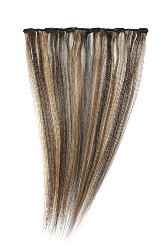 American Dream - A1/QFC12/18/2/27/33 - 100 % Cheveux Naturels - Barrette Unique Extensions à Clipper - Couleur 2/27/33 - Brun Foncé/Blond Riche/Cuivre Riche - 46 cm