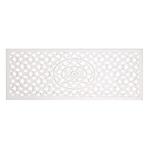 Mural de Madera Natural cabecero Blanco árabe para Dormitorio Arabia - LOLAhome