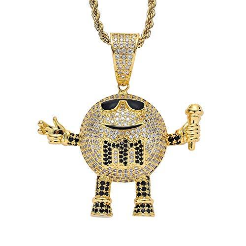 ZSTY Hip Hop Hanger, Hip Hop Sieraden Mai Pa M Bean Microfoon Villain Hip Hop Hanger Nachtclub Rap Accessoires