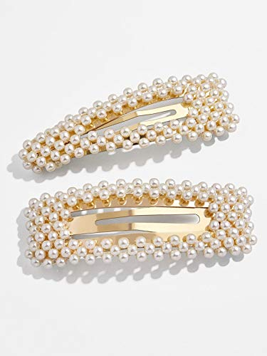 KCHIES Pearl Hair Clips Gold for Women Girls Mother