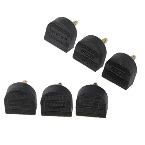 Baoblaze 3 Paar Absätze Reparatur Stiftabsatz Schuhe High Heel Ersatz Stiftabsätze - Schwarz, 20 mm