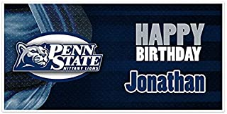 Penn State College Football Birthday Banner Party Decoration Backdrop