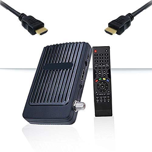 Mini Sat HD Receiver Digitaler - (HDTV, DVB-S/S2, Full HD 1080P) [HDMI, 2X USB 2.0, Vorprogrammiert für Astra Hotbird Türksat]