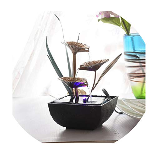 Feng Shui Wheel Indoor Water Fountains Resin Crafts Gifts Desktop Decor Water Fountain for Home Office Teahouse Decoration,A