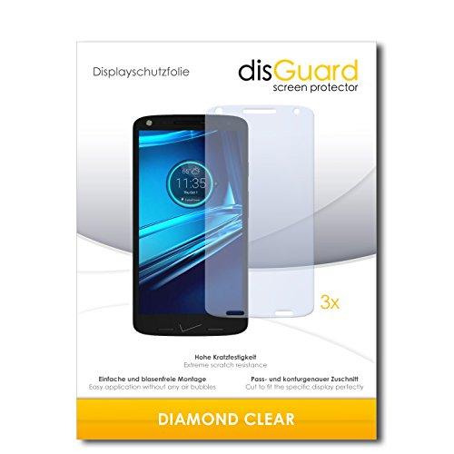disGuard 3 x Schutzfolie Motorola Droid Turbo 2 Bildschirmschutz Folie DiamondClear unsichtbar