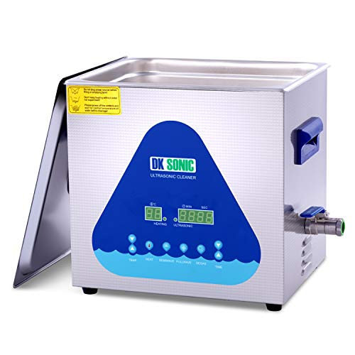Professional Ultrasonic Cleaner-DK SONIC 10L 240W Sonic Cleaner with Heater and Basket for Metal Parts, Carburetor,Fuel Injector,Record,Circuit Board,Brass,Engine Parts,Tableware,Home Repair Tool,etc