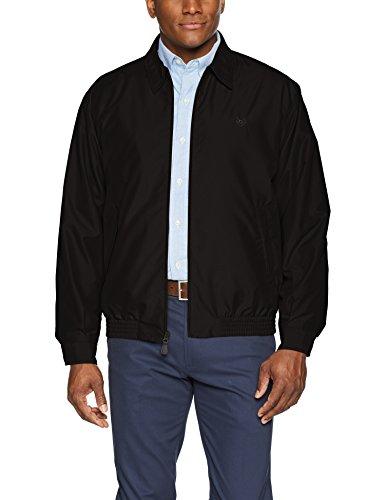 WenVen Men's Fashion Field Cotton Lined Sportswear Jackets (Black,L)