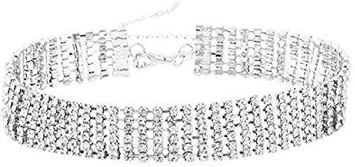 WYDSFWL Collar Cerradura Cadena para el Cuello Cadena de Hueso Collar Corto para Mujer