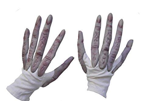 Zagone Studios Handgefertigte Monster Hände - Alien Handschuhe als Kostümzubehör für Karneval, Halloween oder Mottoparty