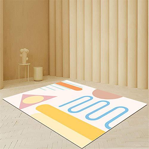 Alfombra recibidor Interior,Alfombra Amarilla y Azul, sofá Suave y Conveniente Alfombra rastreante ,alfombras pie de Cama -Amarillo_40x60cm