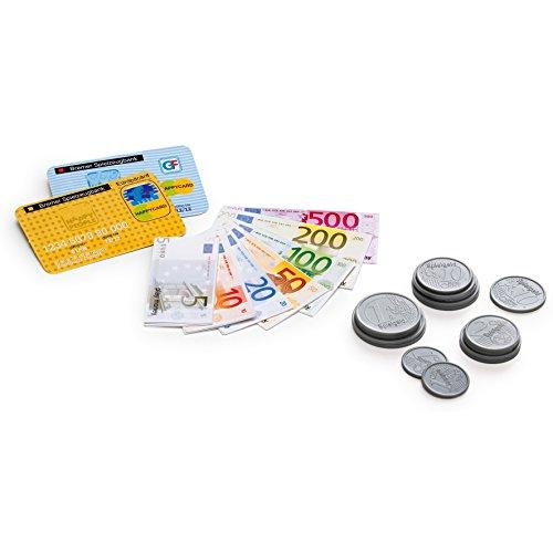 Erzi 25 x 19 x 1,2 cm pretend play trä mat butik varor plast play pengar