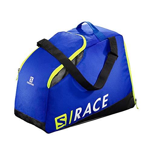 SALOMON Torba na buty narciarskie praktyczna i przestronna rozszerzona maksymalna torba biegowa, wyścig niebieski/neonowy żółty SCFL, NS, LC1169800
